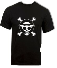 Wholesale luffy shirts for sale – custom Strawhat Pirates Logo T Shirt Luffy Shanks Cool One Piece Anime Mens Unisex Tee Shirt Slim Fit Plus Size