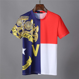 Wholesale mens t shirt top online – design 20SS Mens Designers T Shirt Casual Mens Loose Brand Tees With Letters Print Short Sleeves Top Sell luxurious Mens T Shirt Size M XL