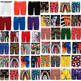 Wholesale 54 Styles Designers Mens Boxer Shorts Luxurys Men Underwears Boxers Briefs Fashion Cartoon Shark Face Beach Shorts Swim Trunks ClothesD82502