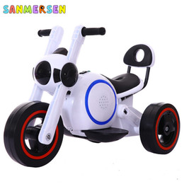 Discount three years old babies Children's Electric Tricycle Motorcycle With Cool Light Charging Motorcar Baby Three Wheels Ride On Cars For Kids 2