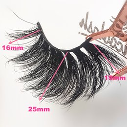 super long eyelashes NZ - 25mm 3D MINK LASHES Long Thick Fluffy 3D mink eyelashes super Soft 3d minklashes with customized packages