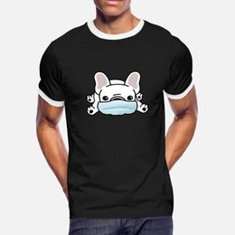 Wholesale create t shirts for sale – custom Family Dog Mask T Cotton Face Shirt Men Create Dog Autumn Plus Size xl Cool Fit Shirt Spring Mask Comical Pgedt