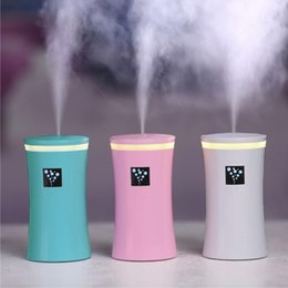 mini usb ultrasonic air humidifier UK - Genuine 230ml Mini Usb Humidifier Diffuser Ultrasonic Cool Mist Fresh Air Spa Aromatherapy Home Office Car Diffusers Purifier Humidifiers