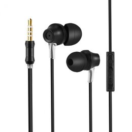phone earbuds with microphone UK - 3.5mm Wired Earphone Stereo Bass In-Ear Earbuds with Mic & Inline Control Built-in microphone Mobile Phone Earphone Universal