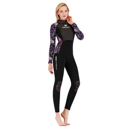 woman surfing suit UK - Wetsuits Women Men's 3mm Neoprene Full Scuba Diving Suits Surfing Swim Long Sleeve Keep Warm Back Zip for Surfing, Water Sports