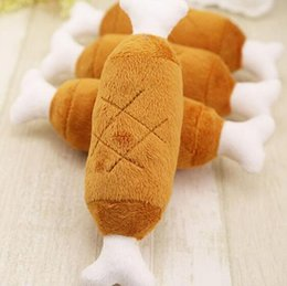 squeaking toy wholesale NZ - Dog Velvet Pet Dog Chicken Legs Plush Squeak Toys Interactive attractive Sound Cats Dog Toys Hondenspeelgoed GA669