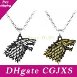 throne pendant NZ - Moq :10pcs Fashion Jewelry Pendant Neckclace Movie Anime Game Of Thrones House Stark Of Winterfell Party Gift For Men