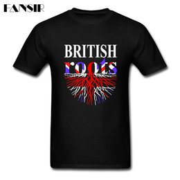 geek clothes UK - Geek Shirts Men Custom Cotton Short Sleeve British Roots England Flag Family Clothes Men T-shirt