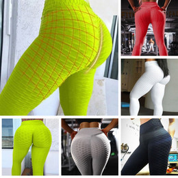 ingrosso pantaloni di colore pantaloni-Womens Plus Size Tumtestsuits Rompere Leggings attive Fashion Solid Color Yoga Pants Casual Jogging Pattern tridimensionale Pesca fitness fitness all ingrosso