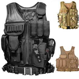 molle plate carriers 2020 - Molle Vest Tactical Plate Carrier Swat Fishing Shooting Hunting Vest Army Protection Body Armo Cs Wargame Vests cheap mo