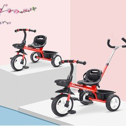 Discount three years old babies Baby Three Wheels Stroller Child Tricycle Multifunction Two Styles Easy to Travel 1-5 Year Old Children Bicycle Ride-On