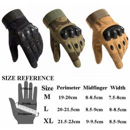 Großhandel Neue Armee taktischer Handschuh voll Finger Außenhandschuh griffige Sporthandschuhe 3 Farben 9 Größe für Wahl