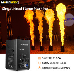stage fire light 2021 - Spain Stock 2pcs lot Flame Machine Stage Lighting Spray 2-4M DMX Flame Genius Safety Channel Fire Projector for Nightclub Party DJ