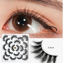 sexy false eyelashes Australia - Thick false eyelashes 5D lotus plate eyelashes 10 pairs Mink Eyelashes lashes Sexy Label long fluffy Eyelash Soft Natural Extension