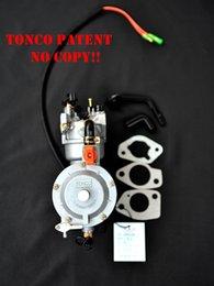 LPG преобразование генератора пропан комплекта карбюратор 6KW 6000W 190F двойное топливо с ручным дросселем на Распродаже