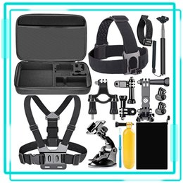 Universal 15pcs Kit de accesorios para Go Pro bolsa de transporte flotante mango del montaje del coche de la correa de succión para la cámara del deporte en venta