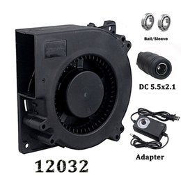 dc centrifugal fan 2020 - Gdstime 120mm Fan 12V DC Female Connector Ball 12032 120x32mm Centrifugal Cooling Fan w AC 110V 220V Adapter Radial Turb