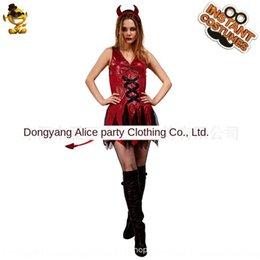 Wholesale sexy devil costumes women online – ideas New big girl sexy devil girl masquerade Dress dress clothing ball performance costume party costume EpQFT