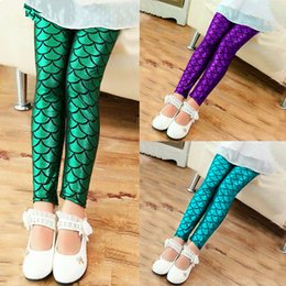 bohemian style boots Australia - Spring and Autumn Girls Leggings Leggings Girls Color Shiny Scaly Pants Slim Pants Children's Print Color Leggings