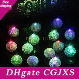 ball shaped balloons Canada - 1000pcs  Lot Round Shape Rgb Mini Led Flashing Ball Lamps White Balloon Lights For Christmas Party Wedding Decoration Lz0844