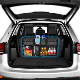 blue storage trunk NZ - Car Trunk Organizer Backseat Storage Bag High Capacity Adjustable Auto Seat Back Oxford Cloth Organizers Universal Multi-use CX200822
