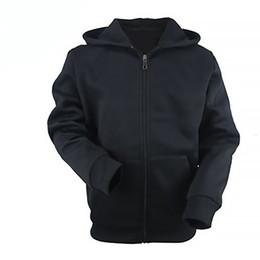 Wholesale plain black hoodie mens online – oversize Plain Black Color Up Hoodies Custom Cotton Hoodie Mens Zip Sweatshirt