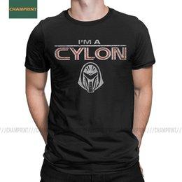 Wholesale the office shirts online – Men T Shirts I Am A Cylon Battlestar Galactica Cotton Tee Shirt Short Sleeve Dwight The Office Michael T Shirt Crew Neck Tops