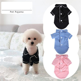 pajamas cats 2021 - Pet Dog Pajamas Homewear Winter Summer Dog Jumpsuit Clothes Cat Puppy Shirt Fashion Pet Coat Clothing For Small Dogs Ted