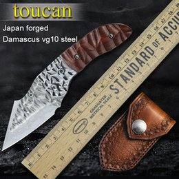 Damascus Steel Pocket Knife Pocket Camping Hunting Folding Knife Camping Knives Outdoor Tools Tactical Self-defense Tools Knives on Sale