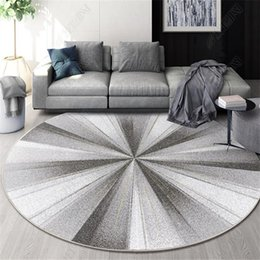 Discount geometric series New Nordic Series Round Carpets for living Room Home Decor carpet Kids Room Play Floor Mat Child Bedroom Computer Chair