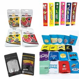 Wholesale Resealable Smell Proof Bag Stoner Patch Dummies Cookies Mylar Bags Blueberry Portable Zipper Storage Packaging Watermelon Pouch Fashion B2