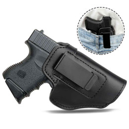 Tactical Invisible Pistol Concealed Carry Universal Belt Type Pistol Gun Holster Leather Concealed Case on Sale