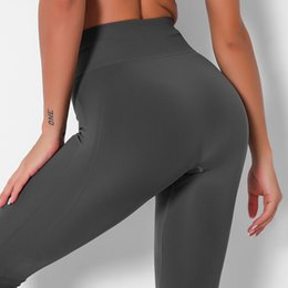Discount sexy hips yoga pants Luu's Hip-lifting High Waist Tights Yoga Pants Women Sexy Nine-point Leggings Runing Sports Fitness Pant