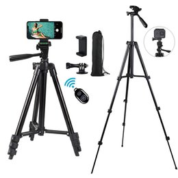 Wholesale mobile camera stands for sale - Group buy Tripod Stand for Mobile Phone DSLR Camera Inch Aluminum Alloy stick Bluetooth Monopod Tripode for Sony Cameras