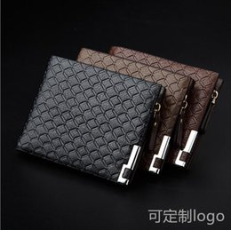 wholesale chain wallets NZ - Mens Business Wallet Leather PU Bifold Short Wallets Men Hasp Vintage Male Purse Coin Pouch Multi-functional Cards Wallet Free Shipping