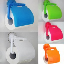 toilet roll paper UK - New Solid Plastic Towel Rack Spare Toilet Wall Mounted Type Paper Holder Rack Tissue Box Roll Stand for Toilet and Kitchen uHii#