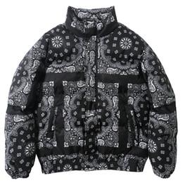 Wholesale color block coat for sale – winter Vintage Color Block Patchwork Coat Men Parkas Casual Warm Padded Jacket Coats Windbreaker Streetwear