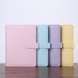 Wholesale 5 Colors A6 Empty Notebook Binder 19*13cm Loose Leaf Notebooks without Paper PU Faux Leather Cover File Folder Spiral Planners Scrapbook