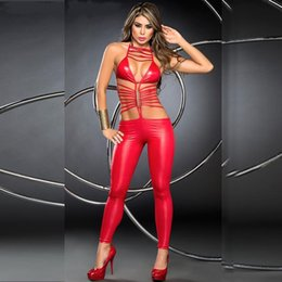 red leather jumpsuits Australia - Red painted leather game body pants jump pants Red Spider essence coswear Goblin jumpsuit night suit aDiPk