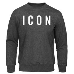 icon clothes NZ - Men's Hoodies 2019 Spring Autumn New Man Sweatshirts Homme Streetwear Men Clothing ICON Print Funny Male Tops Casual Pullovers
