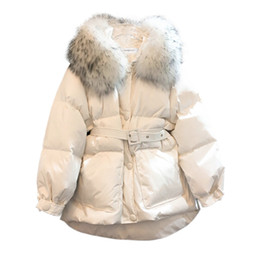 Wholesale parka korean style for sale - Group buy 2020 Winter Jacket Women Korean Style Hooded Parkas Woman Coat Female Jackets Big Fur Collar Clothes Chaquetas De Mujer WPY949