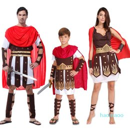 wedding dress rome UK - Fancy Man Kids Cosplay Ancient Rome Carnival Costume Boy Fashion-Women Warrior Dress Italy Party Hallowmas Soldier Masquerade Ksqpt