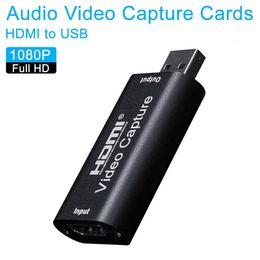 Ingrosso Mini scheda di acquisizione video USB 2.0 HDMI Video Grabber Record Box fr PS4 gioco DVD Videocamera HD Camera Recording Live Streaming