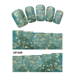 art painting grey 2020 - UPRETTEGO NAIL ART BEAUTY TATTOO WATER TRANSFER DECAL SLIDER OIL PAINTING VINTAGE VASE SUN FLOWER ROSE GOD MOTHER UP049-