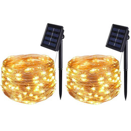 Solar Light String 50 100 200 LED Lights Strings Waterproof Fairy Garland Outdoor Holiday Christmas Party Wedding on Sale