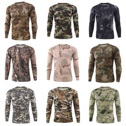 Mens Outdoor-Fitnesstraining Boot Camp WaldlandCamo T-Shirt T-Stück # 815