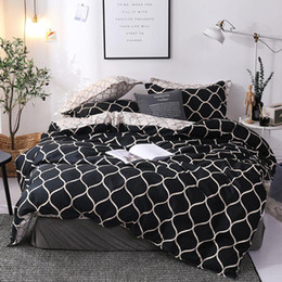 queen bedding sets red black white NZ - Bedding Set Super King Duvet Cover Sets 3pcs Marble Single Swallow Queen Size Black Comforter Quilt Cover Pillowcase 200x200