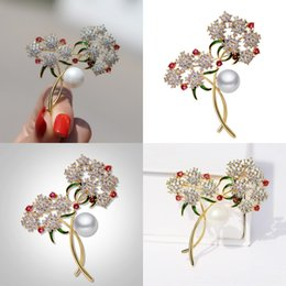 stick pin for suit UK - w2AWe Flower Lapel Pin Men Fabric Suit Brooch Flowerses Yarn Pin Button Stick Flower Brooch For Wedding