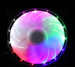 blue cooling fan Canada - cgjxsNew Light Computer 12cm Chassis Cooling Fan Led 15 Light Light Blue White Green Red