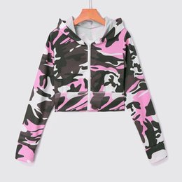 camouflage blouses women NZ - Camouflage Hooded Pullover Long Sleeve tops chic Long Sleeve Blouse women blouses fashion 2020 summer Women's clothing 8.7